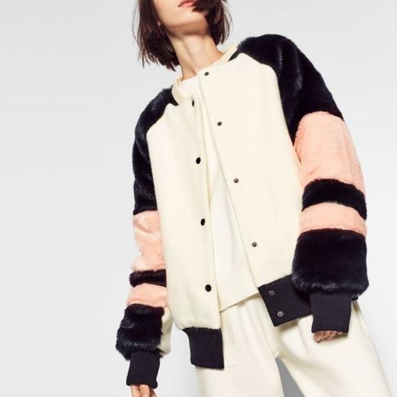 87633b3b Zara Jackets & Coats | Faux Fur Bomber Jacket | Poshmark